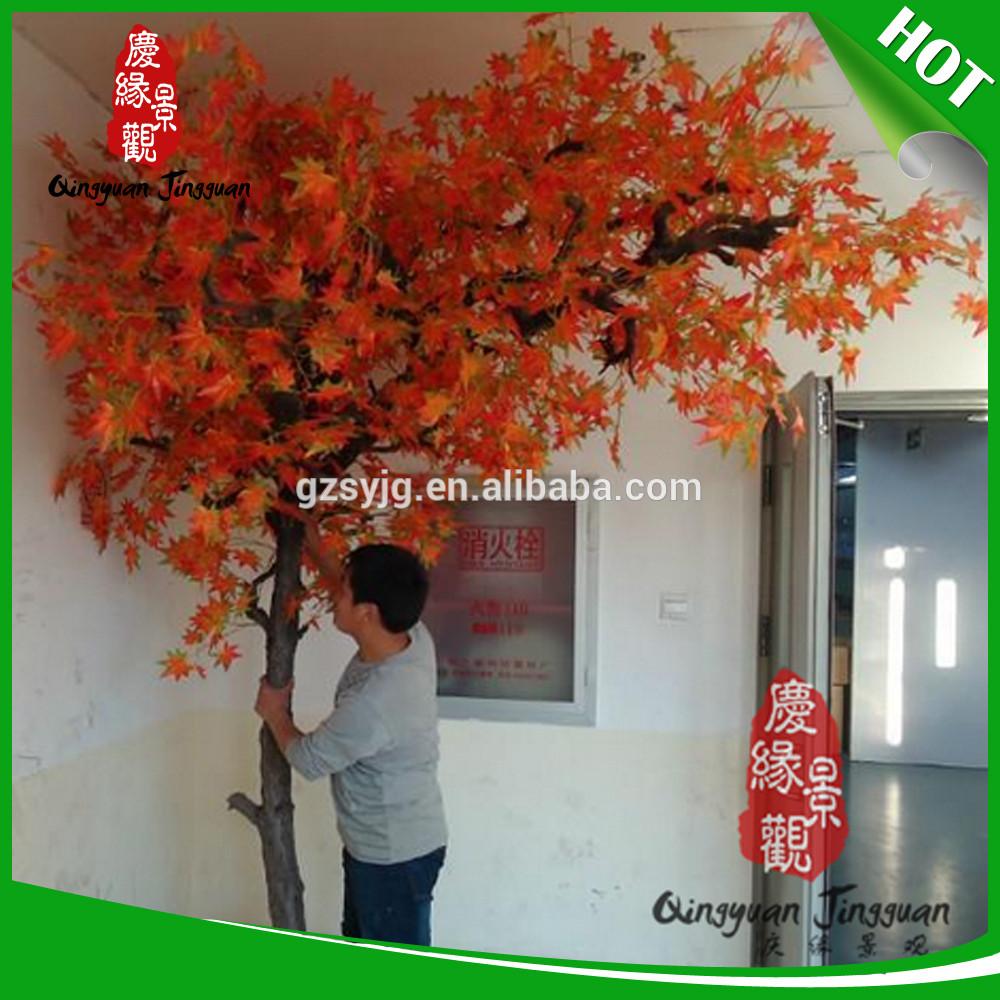 En gros 2 5 m tres grand int rieur faux artificielle rouge for Grand interieur rouge