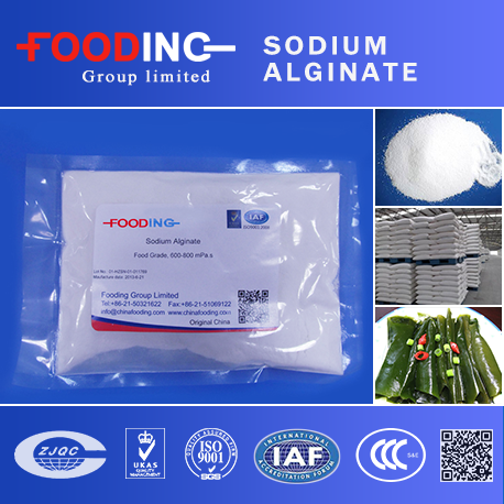 excellent food additives Stabilizer thickener and emulsion food grade sodium alginate from directly factory