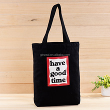 Promotional Custom Logo Cloth Shopper Standard Size Cotton Tote Bags Cheap