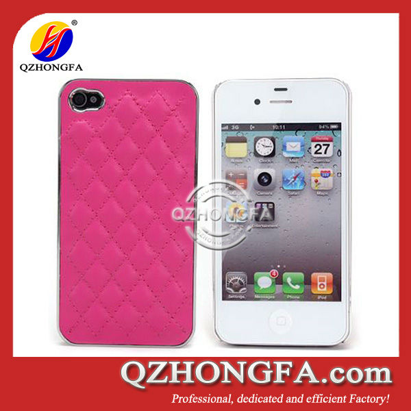 New Grid Design PC+PU Phone Case for iPhone 4 4S