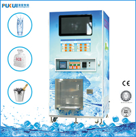 Hot sale model 450kg 24hours Automatic pure food cube ice vending machines with payment system work in coin and note