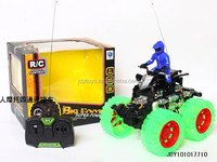 Hot Selling Kid Toy Big Foot Four-way moto RC Car With light music,Wholesale China Plastic Toy Remote Control Car