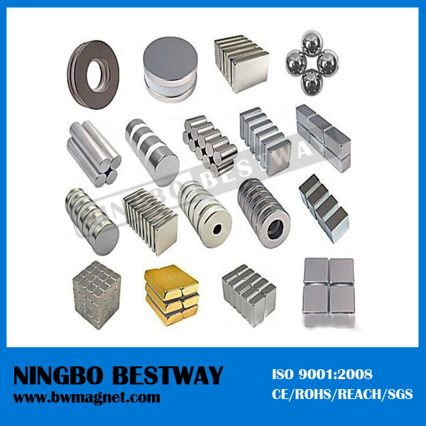 ISO9001 Factory Price N35-N52 Magnetic Materials permanent bulk free neodymium magnets