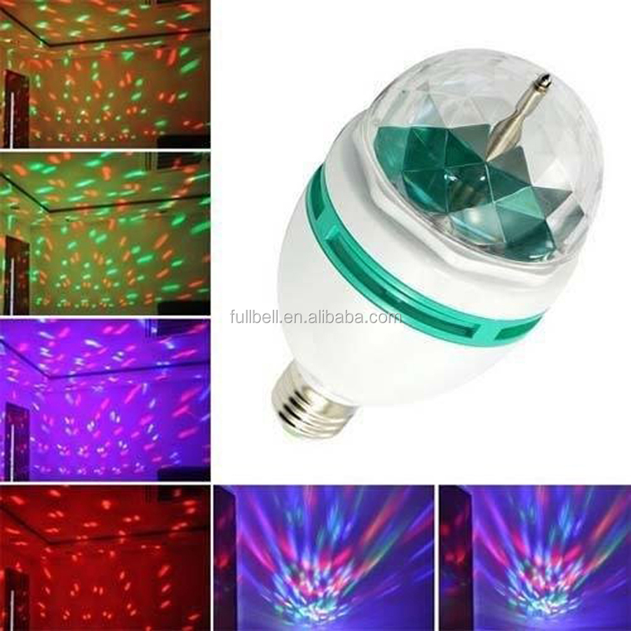 Brand new LED stage lights E27 rotating disco bulb for Xmas party KTV Club