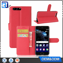 For Huawei P10 Leather Case, Litchi Skin Wallet Leather Flip Case For Huawei P10 Cell Phone Accessories