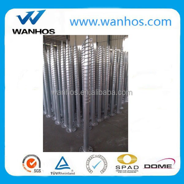 ground screw with flange face