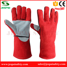 "14""Reinforced fire fighting gloves china welding gloves"