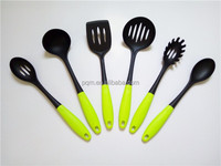 6 PCS nylon kitchen tool set with TPR hollow plastic handle