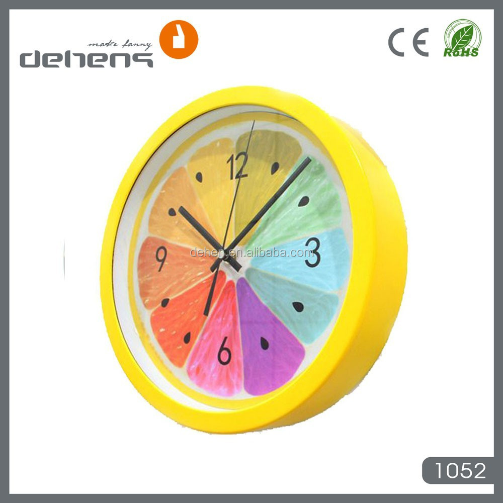 decorative fruit plastic kitchen wall clock
