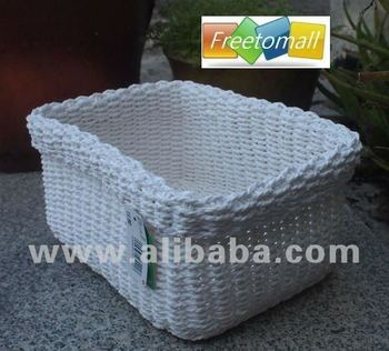 Freetomall Home & Garden Simple style Paper rope storage basket