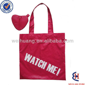 Custom design logo polyester foldable printing bag