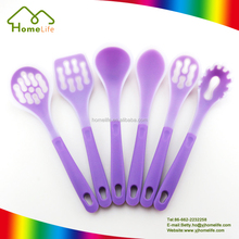 BPA Free colorful kitchen tools set silicone cooking utensils