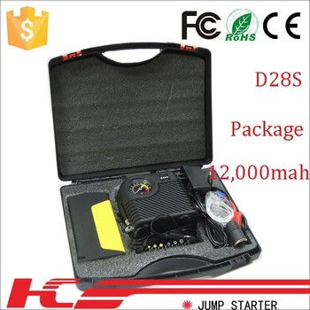 emergency car jump starter of power bank car jump start for diesel gasoline vehicle 12v/24v