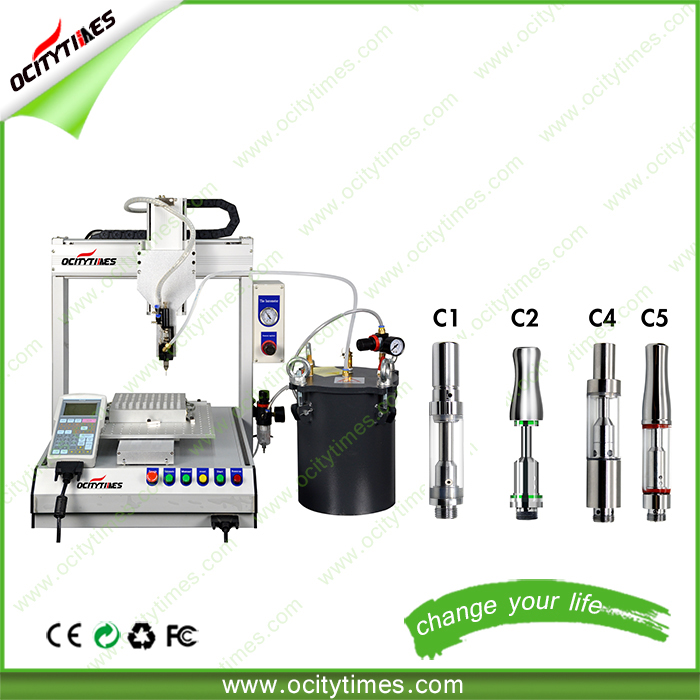 Ocitytimes wholesale cheap tank vapor/ cartridge filling machine/ cbd thick oil filling robot