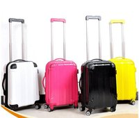 2016 Colorful Polycaronate PC Hard Shell Trolley Spinner Luggage
