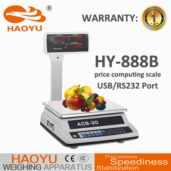 USB RS232 30KG ACS electronic digital weigh scale connect computer