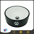 round shape ceramic dog bowls with rubber bottom ceramic pet bowl