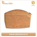 2017 new arrive Green Field makeup bag cork leather cosmetic bag
