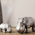 Wholesale delicate small resin rhinoceros statue for tabletop show