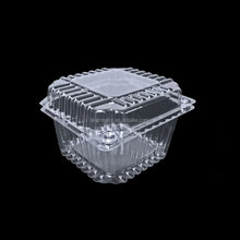 Clear PET Plastic Type HInged Vented blueberry packing box