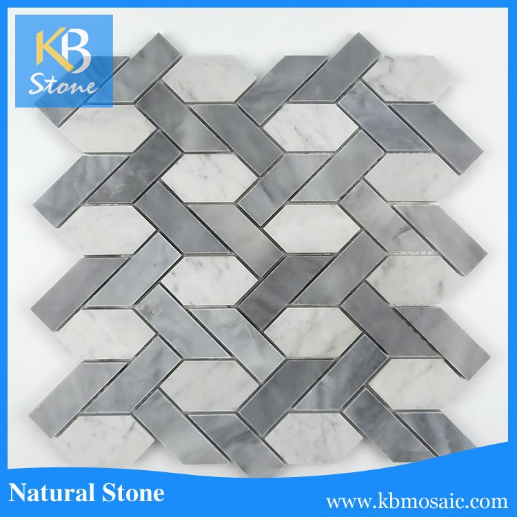 grey and white mosaic tile new design mosaic art stone wall decoration