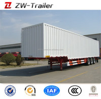Heavy Duty 3 Axle Cargo Box Semi Trailer Sale For Global, High Quality Small Box Trailers For Sale