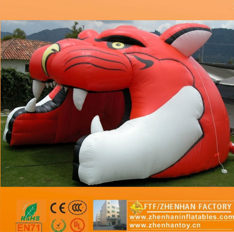 Best market inflatable tiger mascot tunnel