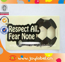 Customized popular adhesive football stickers