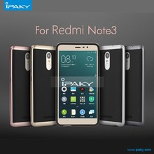 Lowest Price Original iPaky silicon + PC bumper hybrid case cover for xiaomi redmi note 3