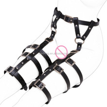 Costume sex leather belt body restraints female sex bondage
