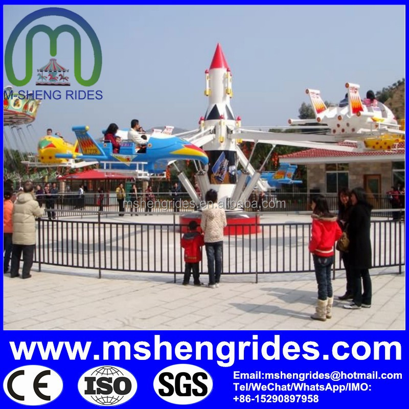 2016 New Design Attractive Space Shuttle Plane Rides Amusement New Products For Sale