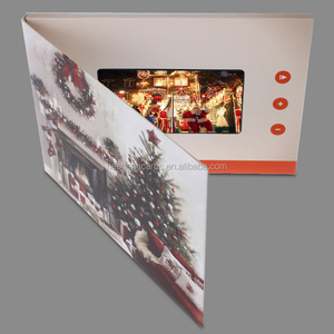 promotional items 4.3 inch invitation lcd video greeting card,Merry Christmas card