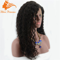 100 brazilian virgin hair full lace wigs curly wig for black women for natural girls hair wig