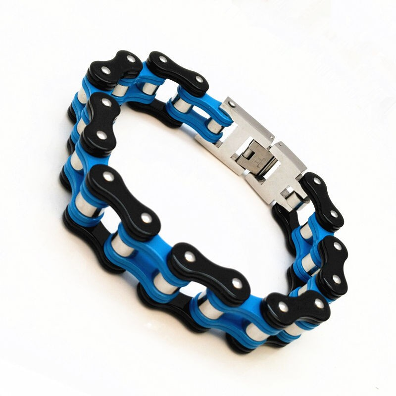 Wholesale Stainless Steel Bicycle Chain Link Biker Jewelry Bracelet