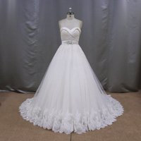 Beautiful pakistani strapless a line wedding dress in many style wholesale wedding dresses