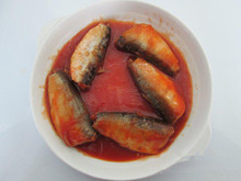 155g canned mackerel <strong>fish</strong> in tomato sauce