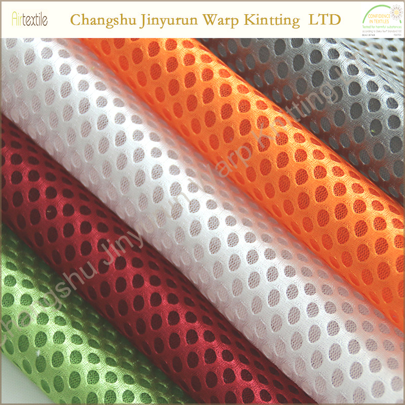 AR67 Polyester knitted close hole mesh fabric covered