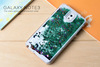 3d liquid glitter phone case for samsung note 4
