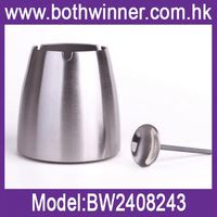 Sophisticated technology h0tgt fashion round tin box ashtray butt bucket for sale