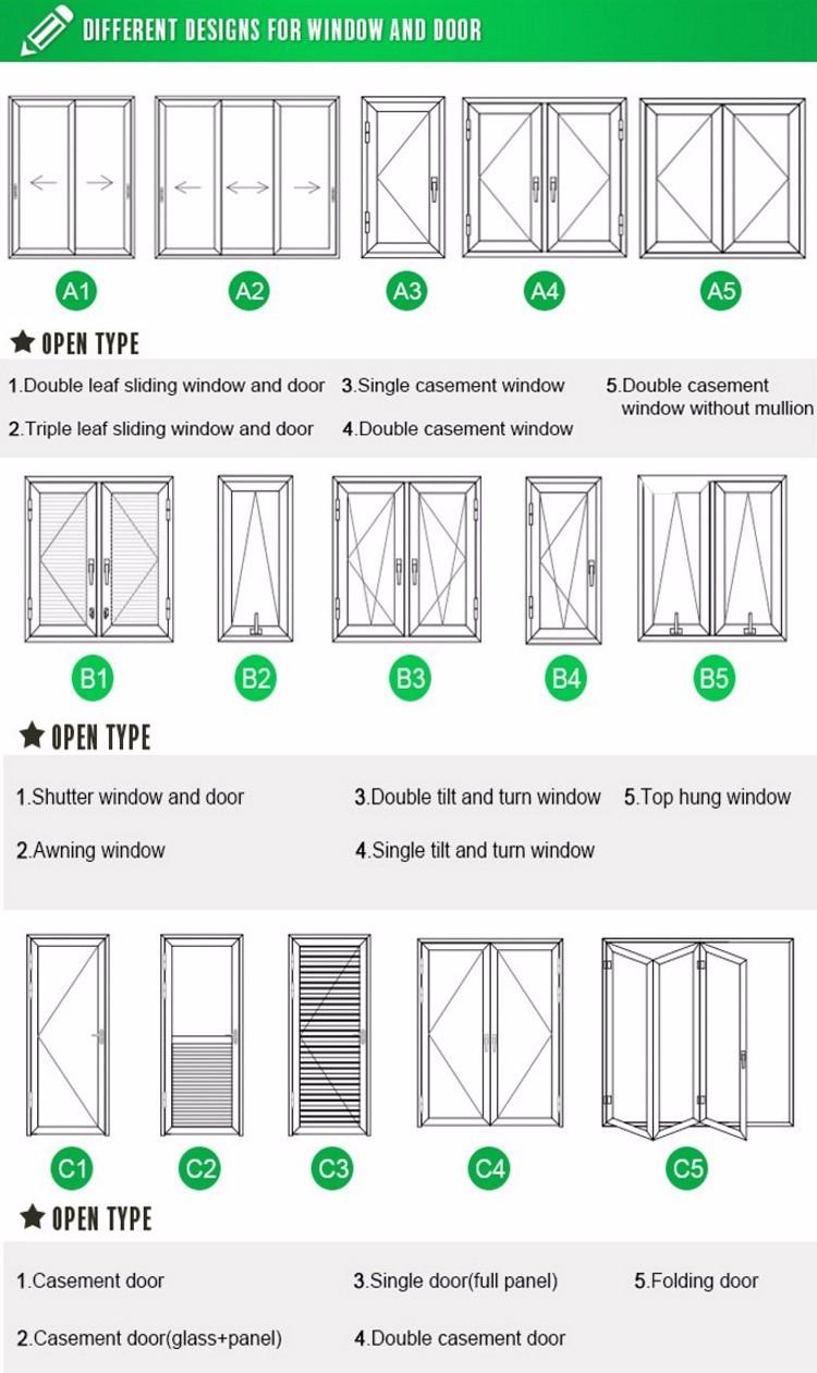 Aluminum double leaf interior door grill design price buy double
