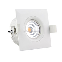 norge sverige recessed square 9w led downlight cct 2700k 3000K 4000k with dimmable 83mm cutout passed CE Nemko 5years warranty