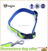 Top quality fluorescence hunting dog collar with release buckle