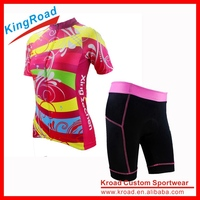 Club/race cut cycling garment 2016 pro team bicycle shirts with shorts