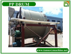 china tanning pp leather drum for pearl fish skin