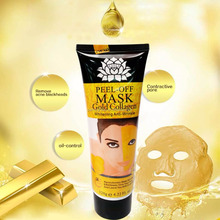 120ml 24k Gold face mask Purifying Peel Off blackhead remover black mask