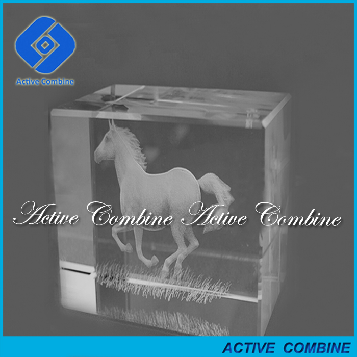 high grand holiday souvenirs gifts animal themed horse running laser engraved crystal