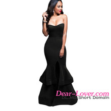 Sex New Fashion Royal Blue Strapless Sex Prom Sweetheart Evening Gown