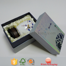 Gold foil printing or silver metallic stamping costomized your own logo Neck style rigid box