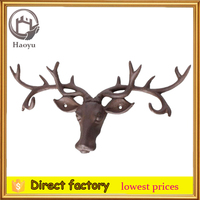 Cast Iron Deer Head Wall Decoration
