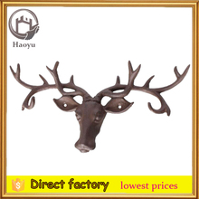 cast iron deer head wall decoration key hook